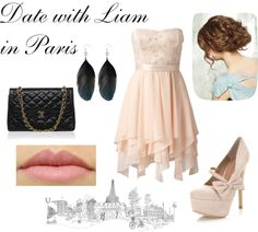 """Date with Liam in Paris"" by d-calderics ❤ liked on Polyvore"