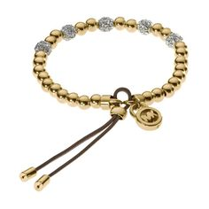 Wow__Worth it! Cofortable and cheap Michael Kors Bead Stretch Golden Bracelets