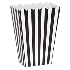 Small Black  White Striped Popcorn Treat Boxes 8ct >>> Learn more by visiting the image link. Note:It is Affiliate Link to Amazon.