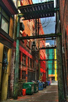Colorful Brick Alley - HDR
