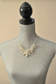 Wedding Necklace Bridal Necklace Pearl Cluster by SarahWalshBridal, $210.00