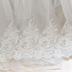 White Alencon lace with floral embroidery/Bridal Lace Jacket/Lace Fabr   Zeng's Lace