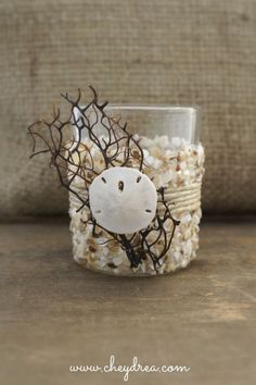 BEACH CANDLE HOLDER  Wedding Votives Beach Cottage