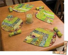 LEAVES-ON-A-ROLL PLACEMATS PATTERN
