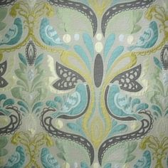 Found at Fashion Fabrics Club today...Two In a Bush Breeze Floral Bird Design Drapery Fabric by Swavelle Mill Creek