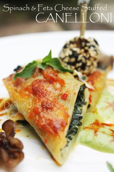 Spinach and Feta Cheese Canelloni
