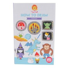 An affordable, fun and take-anywhere gift for budding artists aged 5 and over, Tiger Tribe How to Draw kits in Fantasy and Wild Kingdom designs make it easy for kids to learn how to draw a range of figures with simple step by step instructions - Gift Grapevine March gift picks