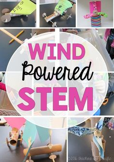 STEM challenges that use wind power. This includes windmills, wind powered cars, and wind-powered boats!