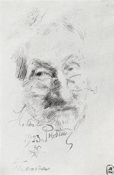 Self portrait - Ilya Repin Ilya Repin, Russian Painting, Russian Art, Alphonse Mucha, Human Face Sketch, Drawing Sketches, Art Drawings, Dancing Drawings, Vintage Artwork