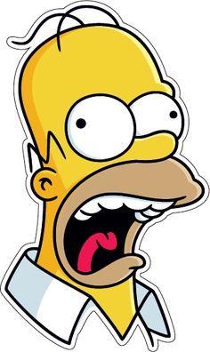 Наклейка сумасшедший гомер симпсон - заказать виниловый стикер в NakleikaShop.ru на машину, ноутбук, холодильник, тeлефон. арт. Smpsn-002 Cartoon Stickers, Tumblr Stickers, Cool Stickers, Funny Stickers, Printable Stickers, Laptop Stickers, Simpsons Drawings, Simpsons Art, Art Drawings Sketches