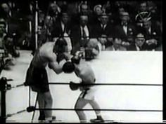 Madison Square Garden, New York, New York, USA Joe 'The Brown Bomber' Louis vs Rocky 'The Brockton Blockbuster' Marciano Heavywe. Joe Louis, Boxing Fight, Sports Figures, Sports Photos, Boxing Gloves, Man Stuff, History Facts, Boxers, Martial Arts