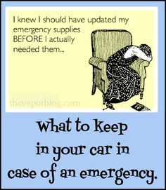 The V Spot: Basic emergency supplies you should keep in your car.- great tips for your family!
