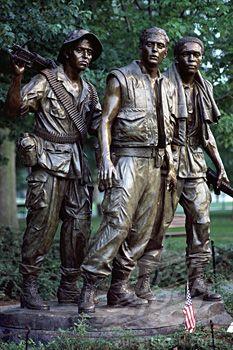 Vietnam Veterans Memorial Washington, DC - adjacent to the Wall Vietnam History, Vietnam War Photos, Vietnam Vets, Hanoi Vietnam, South Vietnam, Statues, Wassily Kandinsky, Gi Joe, Washington Dc