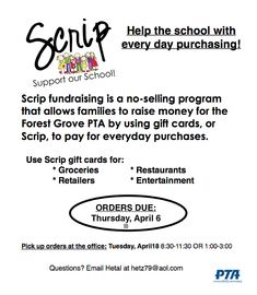 Image result for scrips fundraising flyers