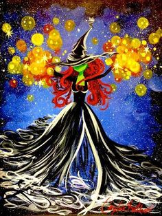 halloween painting on canvas Halloween Canvas Paintings, Fall Canvas Painting, Witch Painting, Halloween Painting, Autumn Painting, Witch Art, Easy Paintings, Halloween Art, Diy Painting
