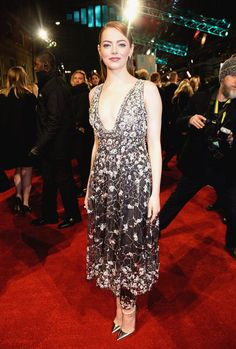 Emma Stone in Chanel at the 2017 #Baftas