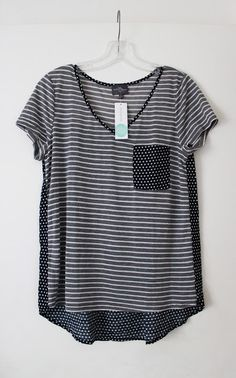 Love the stripes and polka dots! Probably need an XS in this oversized tee!