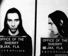 Marilyn Manson's mugshot.