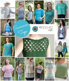 One of the best things about summer is a tank with a lacy crochet pullover top. I love to make mine in a light cotton so they are airy and breathable. Some of these tops also make great swimsuit co… Crochet Tank Tops, Crochet Jumper, Crochet Summer Tops, Crochet Cardigan, Knit Crochet, Crochet Sweaters, Crochet Round, Cute Crochet, Beautiful Crochet