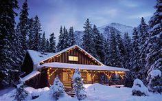 Christmas Mountain Scenes | Free Christmas Desktop Wallpapers: Snow Christmas Mountains Wallpaper