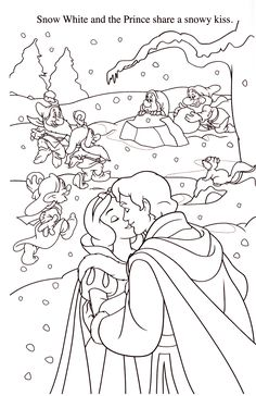 Disney Coloring Pages: Photo Barbie Coloring Pages, Disney Princess Coloring Pages, Disney Princess Colors, Disney Colors, Coloring Book Pages, Coloring Sheets, Snow White Coloring Pages, Painting Templates, Printable Adult Coloring Pages
