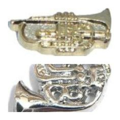 French Horn Floating Locket Charm Trumpet Floating by JSueSelling, $2.00