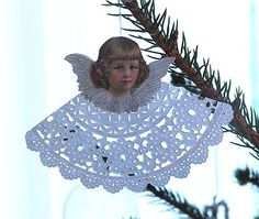 angel with doily
