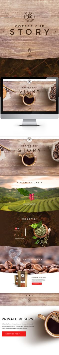 Coffee cup story. on Behance