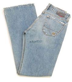 Womens Big Star Jeans Distressed Low Rise Bootcut Slim Fit 26R 30 x 32 1/2 New  #BigStar #BootCut