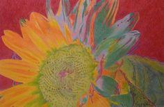 """Sunjoy"" 20 x 30"" pastel pencil on Stonehenge paper, 2012. By Cris Fulton, Bowman, North Dakota."