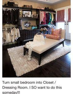 Small bedroom + Clothes = Closet.... Yay!