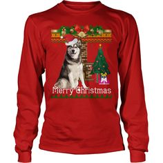 Ugly Christmas Sweater Alaskan Malamuteb TShirt Dog Shirt #gift #ideas #Popular #Everything #Videos #Shop #Animals #pets #Architecture #Art #Cars #motorcycles #Celebrities #DIY #crafts #Design #Education #Entertainment #Food #drink #Gardening #Geek #Hair #beauty #Health #fitness #History #Holidays #events #Home decor #Humor #Illustrations #posters #Kids #parenting #Men #Outdoors #Photography #Products #Quotes #Science #nature #Sports #Tattoos #Technology #Travel #Weddings #Women