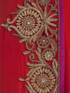 Anand Kabra Assymetric angrakha with cutwork border <3 <3