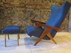 "Jose Zanine Caldas, ""Z"" line chair and ottoman, Brazil, 1950's"