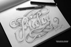 #graphic #design #typography #font #sketch