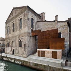 "The ""Scuola Grande della Misericordia"", known as the ""Misericordia di Venezia"", is a historic building that is part of the cultural and artistic heritage of . Parasite Architecture, Architecture Extension, Architecture Renovation, Building Renovation, Modern Architecture Design, Architecture Old, Classical Architecture, Modern Buildings, Casa Magna"