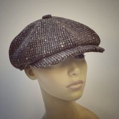 Classic Bakerboy Paperboy Newsboy Cap Hat Retro Vintage Harris Tweed  Bespoke Peaky Blinders Gatsby Large Any Size XL Custom Made e99faf851d8