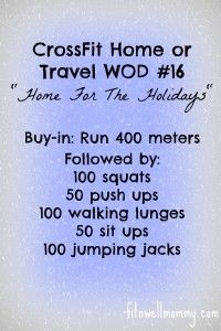 3 Tips For Working Out On Vacation and CrossFit Home or Travel WOD #16 - Fit N Well Mommy