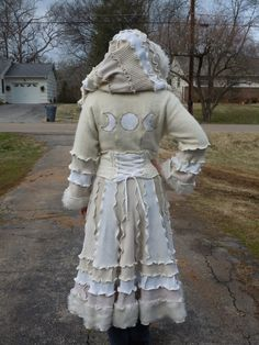 Recycled Sweater Corset Elf Coat  Winter by IrregularStitchings, $295.00