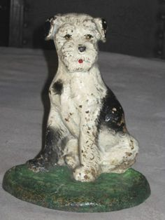 HUBLEY TERRIER DOG DOORSTOP CAST IRON