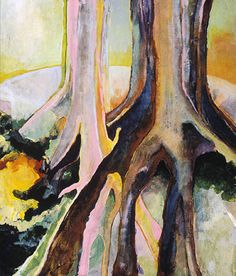 "Rabbit Tree-print by M. Kolsoum Ginney Acrylic ~ 14"" x 11"""