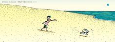 #summer #vacation #muttscomics #Ozzie #Earl #beach #fun #sand #ocean #happy #cute