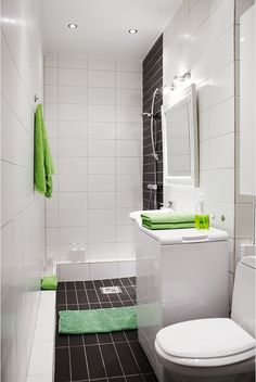 Small Bathroom design.  Wall mount the vanity