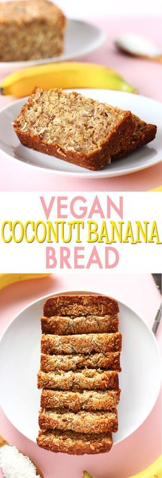 Take your traditional banana bread up a notch with this amazing COCONUT banana bread! Coconut makes for such a great addition in this easy, moist, incredibly delicious vegan loaf!