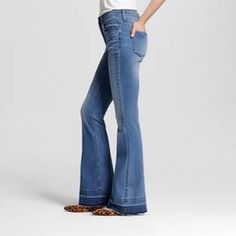 Women's High-rise Flare Jeans Medium Wash 0R - Mossimo™ : Target