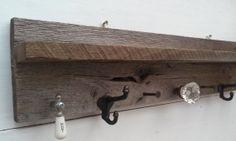 Coat Rack made with Barnwood Antique Faucet by RusticsReborn, $79.00