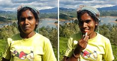 Before & After Photos Of Beautiful Women In Sri Lanka Were Gifted A Red Lipstick   Bored Panda