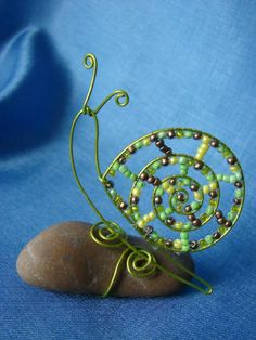 Beaded Crafts, Wire Crafts, Jewelry Crafts, Wire Wrapped Jewelry, Wire Jewelry, Beaded Jewelry, Jewellery, Sculptures Sur Fil, Wire Sculptures