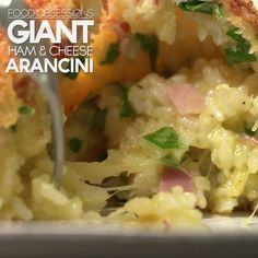 Giant Ham & Cheese Arancini