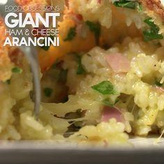 Giant Ham & Cheese Arancini